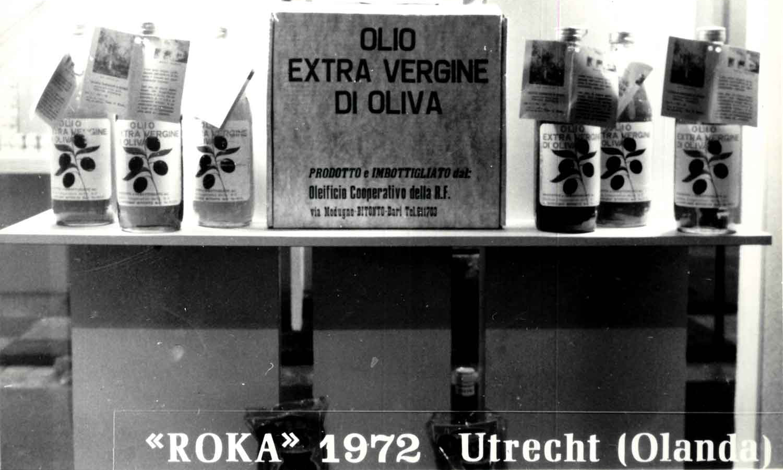 Produzione olio extravergine di oliva dal 1960