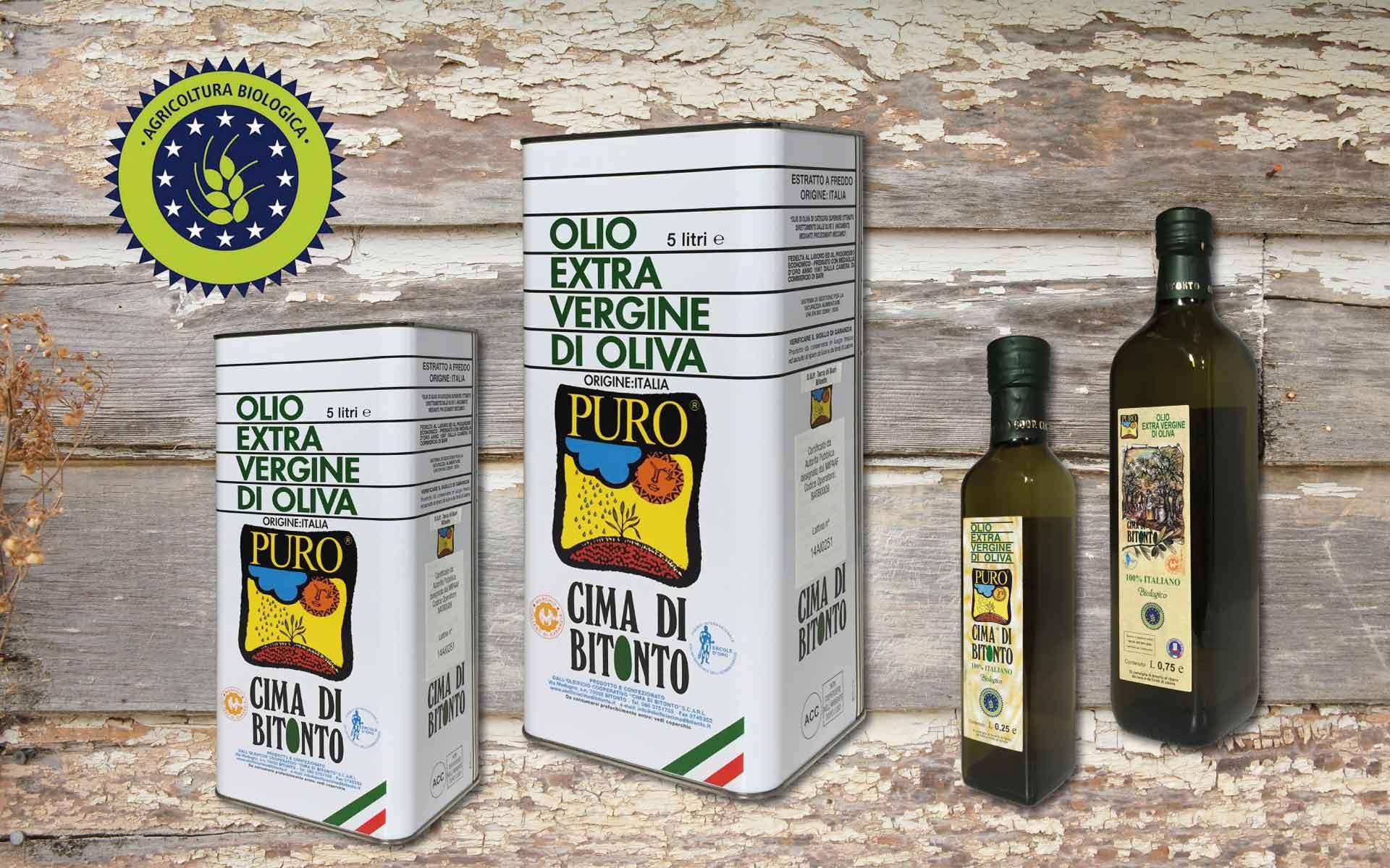 Olio extravergine di oliva BIOLOGICO Puglia