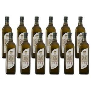 pack di 12 bottiglie olio fruttato 1 litro
